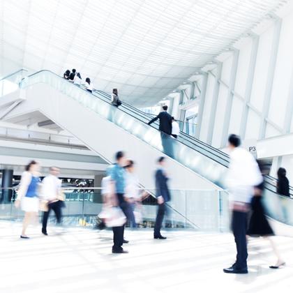 Employment, Busy Escalator